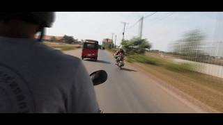 Travelling through Siem Reap Road - time lapse