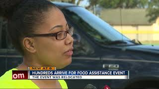 Hundreds turn out for food assistance