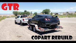 Wrecked Salvage 2017 Nissan GTR Rebuild From Copart