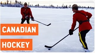 Canadian Officers Play Hockey | What the Puck