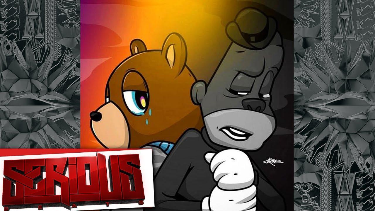 Cartoon kanye west bear