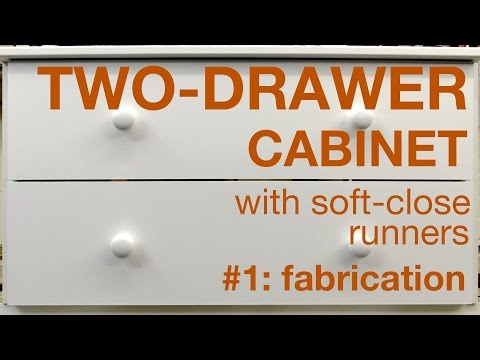 How to make a two-drawer cabinet, Part 1, #012