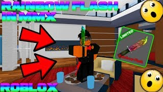 ROBLOX | MURDER MYSTERY X: PLAYING WITH THE RAINBOW FLASH KNIFE (RAREST KNIFE IN MMX)