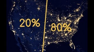 80% of Americans Live East of This Line (And Other Interesting Population Patterns)