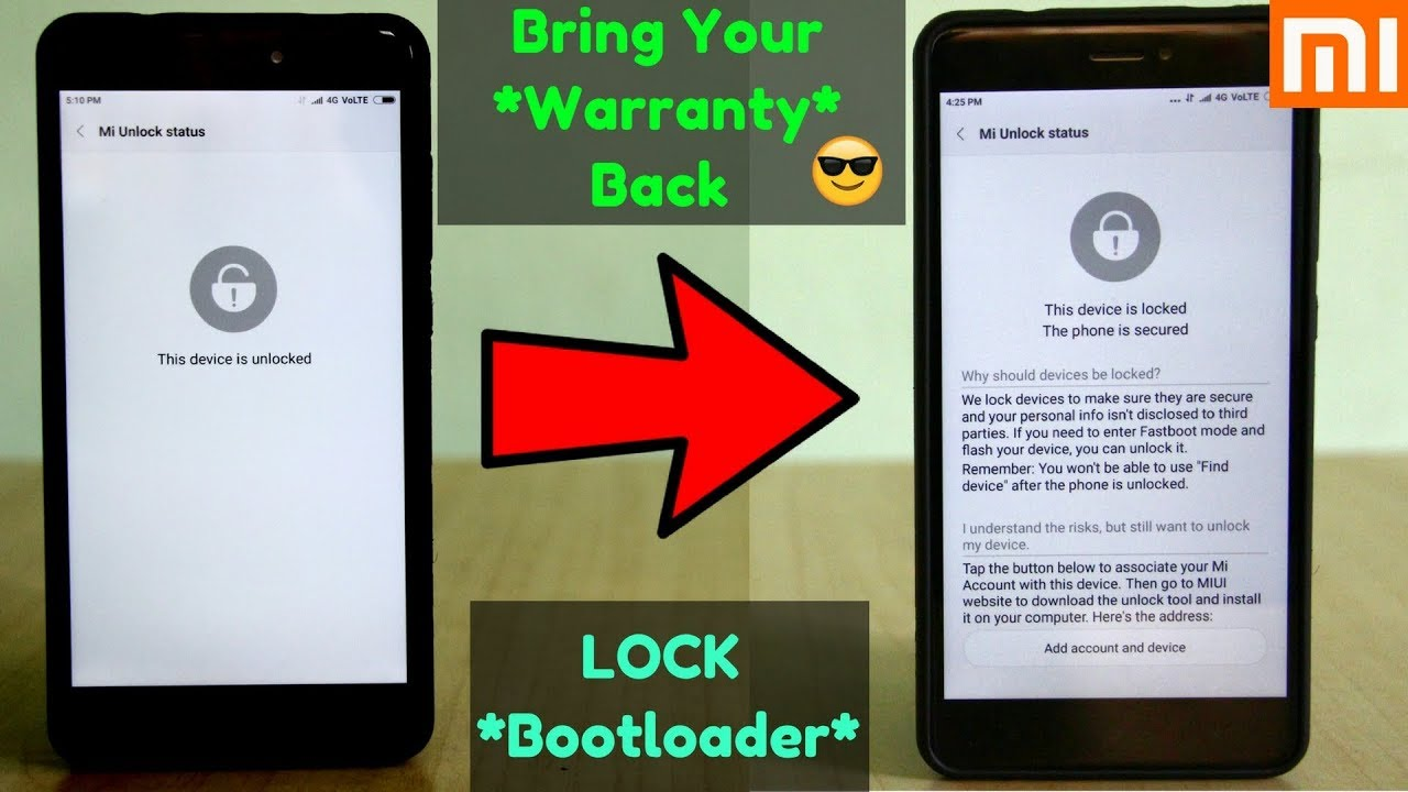 RELOCK the Bootloader Of Any Xiaomi Device (Without Loosing DATA) | Relock the Bootloader of RN5…