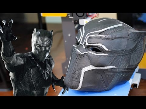 3D Printed BLACK PANTHER Mask - Replica Prop Cosplay