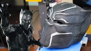 3D Printed BLACK PANTHER Mask - Replica Prop Cosplay