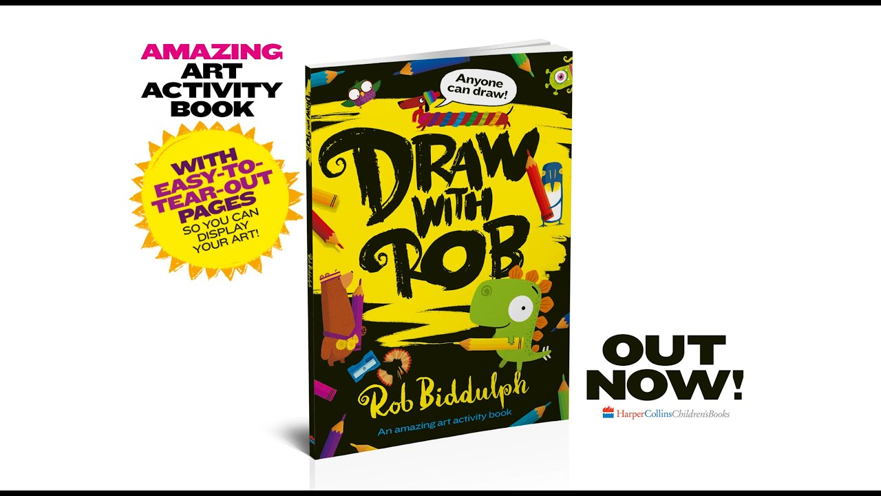 Draw With Rob Activity Book is OUT NOW