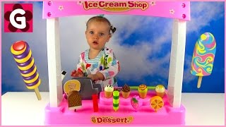 Gaby Pretend Play with Ice Cream Shop and Cash Register Toys
