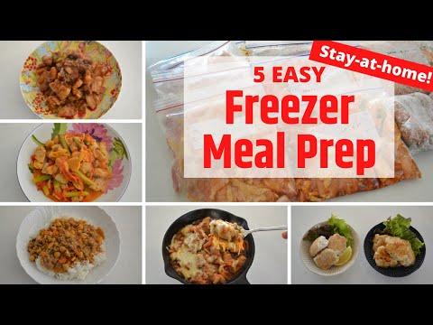 FREEZER MEAL PREP ⭐️5 easy Recipe⭐️Stay-At-Home�� (EP171)