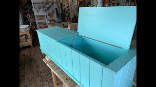 Painted Storage Bench Custom Furniture Complete Build
