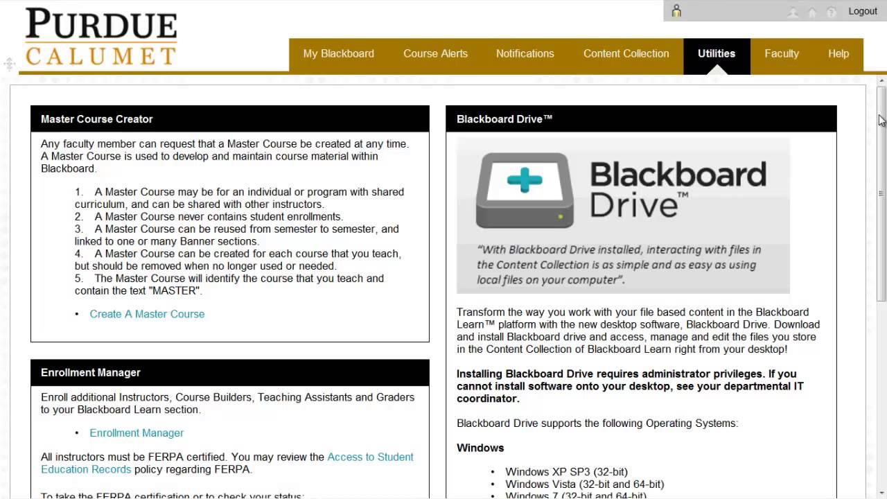 Blackboard Learn Downloading And Installing Blackboard Drive Youtube