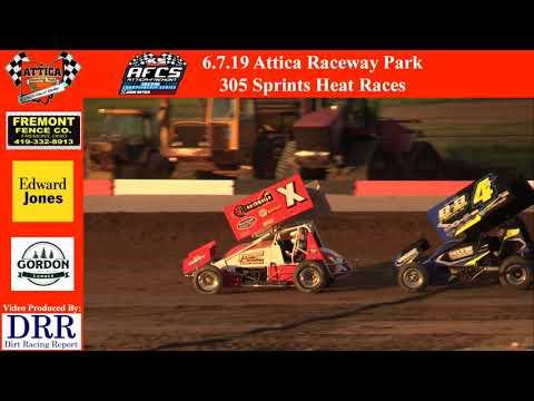 6.7.19 Attica Raceway Park 305 Sprints Heat Races