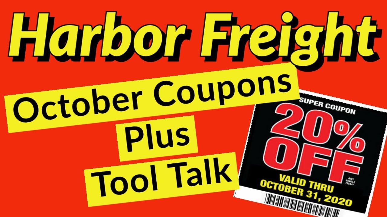 Harbor Freight Coupons October 2020 Super Coupons PLUS Extra Savings Bonus Coupons
