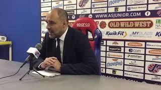 La sala stampa di Junior Casale-ON Sharing Mens Sana: coach Moretti