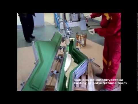 OSV L60 производство мебельных комплектующих из ППУ - YouTube