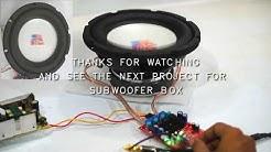 Powerful Subwoofer Amplifier build - Class-D TPA3116D2 2 x 100W
