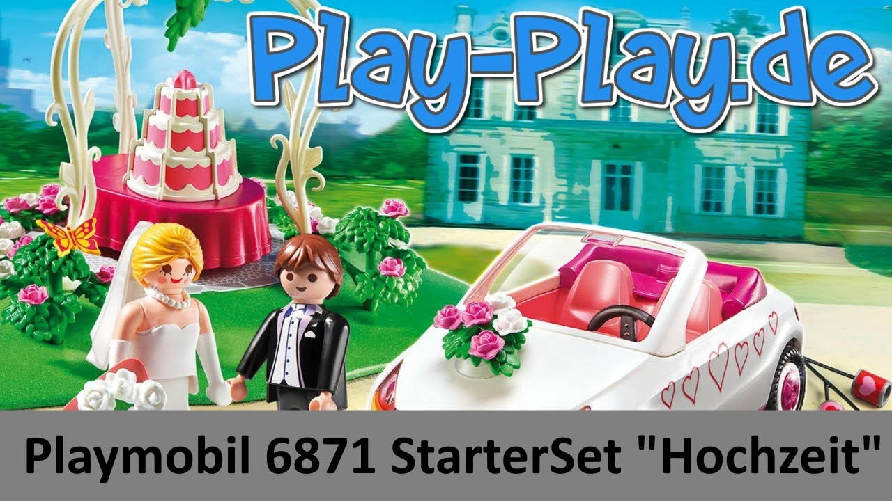 playmobil 6871 starterset hochzeit unboxing  youtube