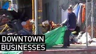 Homelessness Crisis Crippling Downtown LA Business | NBCLA