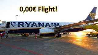 THE CHEAPEST FLIGHT in the WORLD!? My 0,00€ FLIGHT on RYANAIR!