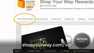 VIP CHOICE, a new Shop Your Way Member Benefit