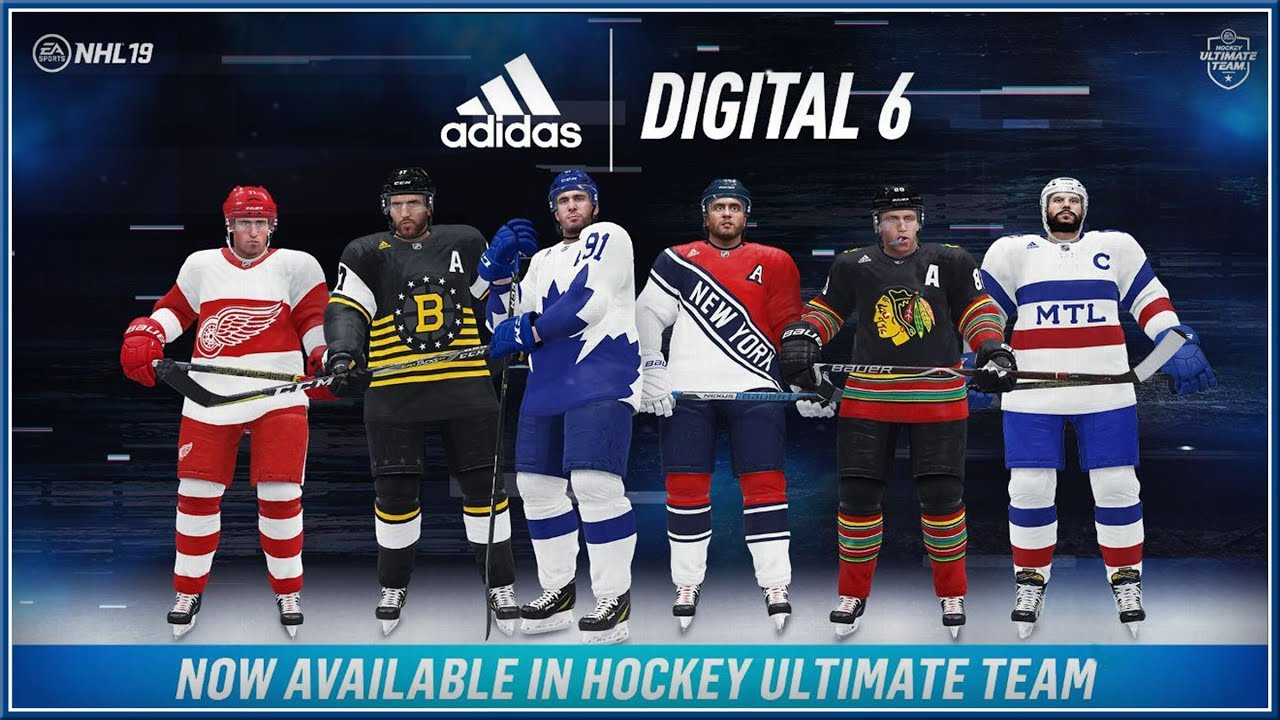 NHL 19 - Official EA SPORTS x adidas Digital 6 Original SIX Announce ... 8bd92e49e
