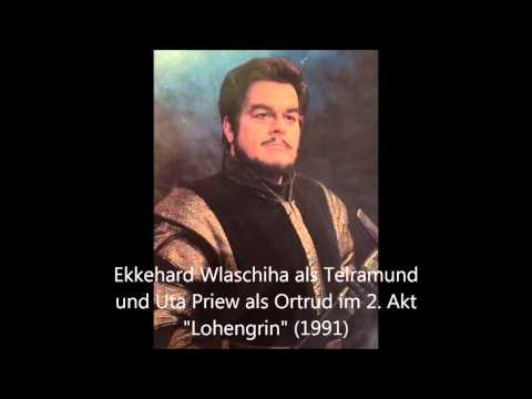 "Ekkehard Wlaschiha und Uta Priew im 2. Akt ""Lohengrin"""