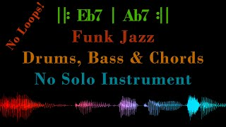 funk jazz    eb7   ab7    with drums bass chord voicing backing track jam