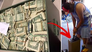 This Man Finds Safe Containing $7.5MILLION Inside Storage Unit He Bought For $500