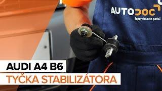 Vymeniť Vzpera stabilizátora AUDI A4: dielenská príručka