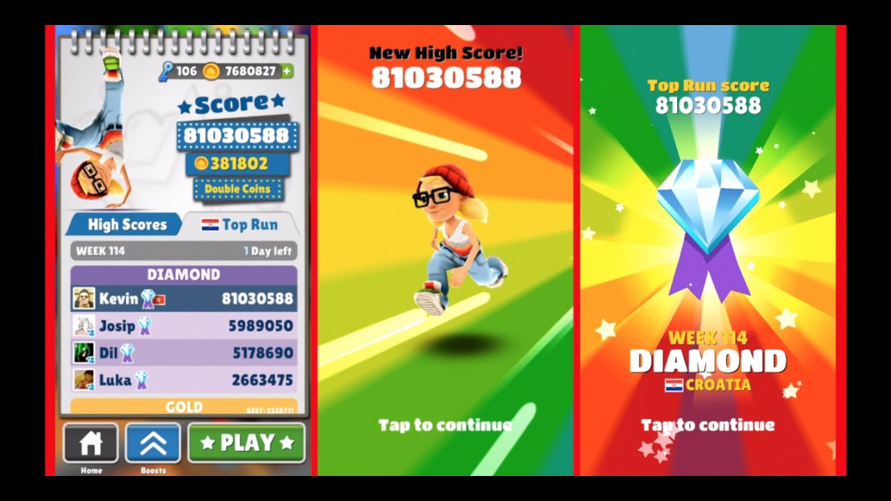 New Best on Subway Subway Surfers! Over 81 Million No Hacks or Cheats!