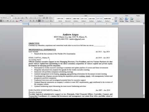 "What Should Be Included in My Big 4 Accounting Resume"" with ..."