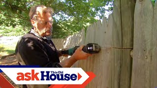 How to Replace a Rotted Fence Post