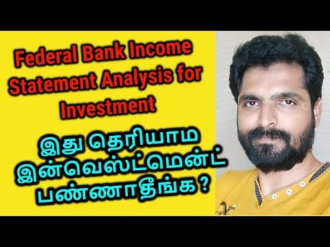Federal Bank Analysis   fundamental and Income Statement Analysis   Tamil Share