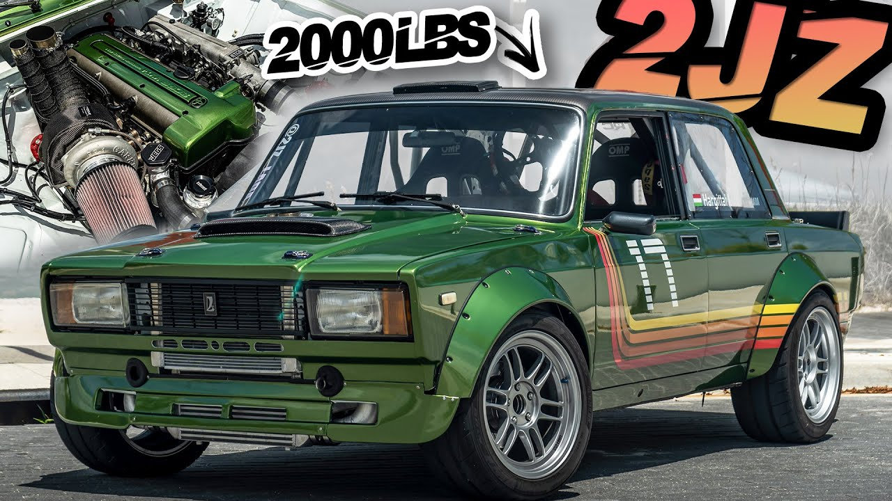 Russian Lada with 2JZ-GTE Swap! (2000LB STREET LEGAL MISSILE)