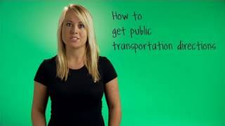 How to get public transportation directions