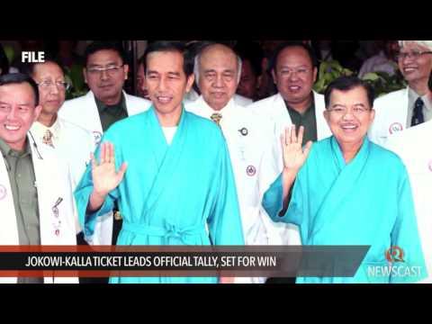 Jokowi Kalla ticket leads official tally, set for win
