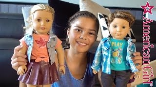 Unboxing Tenney and Logan with Accessories | American Girl