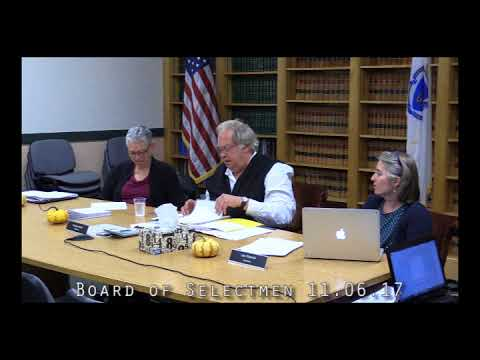 Board of Selectmen 11.06.17