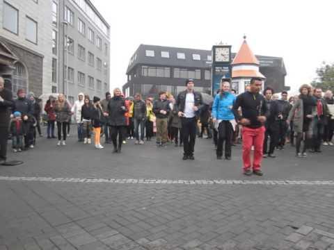Salsa Iceland dances at Reykjavik culture night 2013