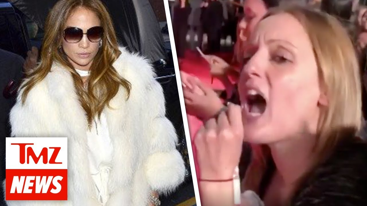 J Lo Confronted By Animal Rights Activists Over Fur | TMZ NEWSROOM TODAY
