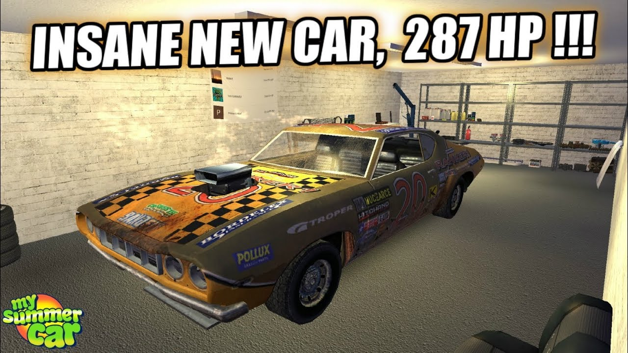 my summer car - insane new car v8 !!! - youtube