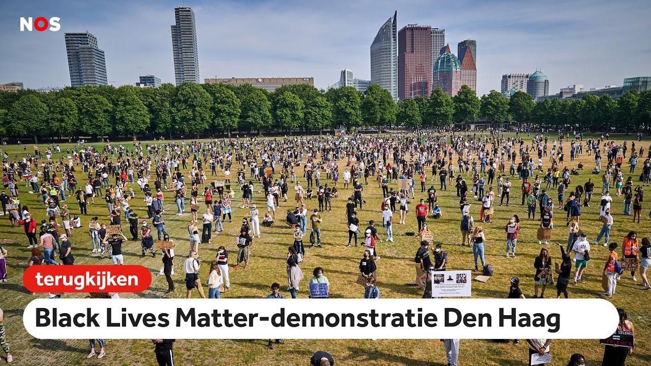 Live Black Lives Matter Demonstratie In Den Haag Youtube