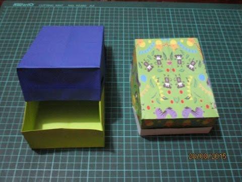 C mo hacer una caja rectangular de regalo origami youtube - Como hacer una caja ...