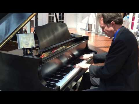 The Platters, Smoke gets in your eyes (piano version) - busking in the streets of Savannah, USA