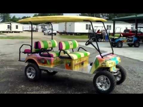 Beach Themed Golf Cart~ | Golf Cart Ideas | Golf cart ...  |Margaritaville Golf Cart Craigslist