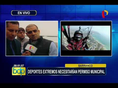 Barranco: la práctica de deportes extremos necesitaría permiso municipal (2/2)