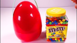 Red Surprise Egg Full of sweets with Johny Johny Yes Papa song