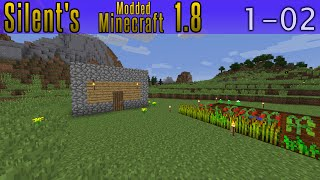 Silent's Minecraft 1.8 - S1E02 - Mining For Food?