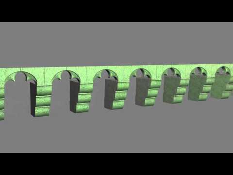 Mâchicoulis de la potence d'Allègre en 3D variations lumineuses